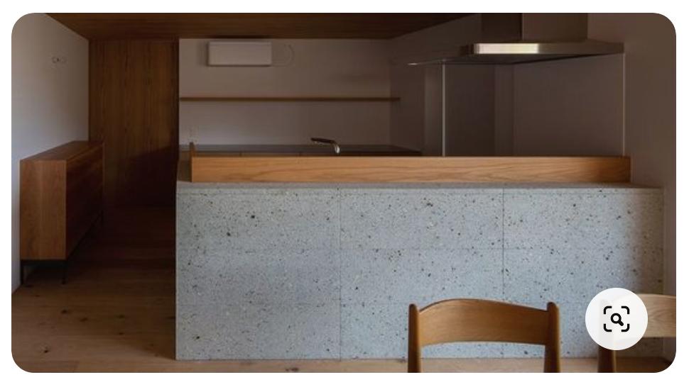 箱ライフ | キッチンの大谷石