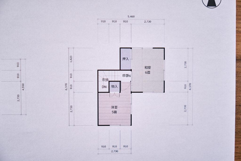 古い家の間取り図2F