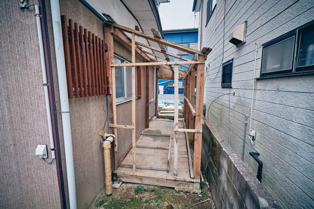 DIY小屋の解体2