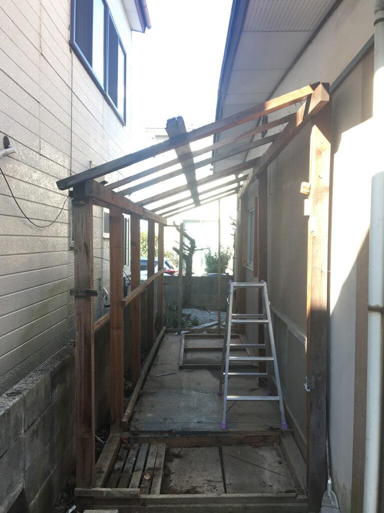 小屋の解体DIY