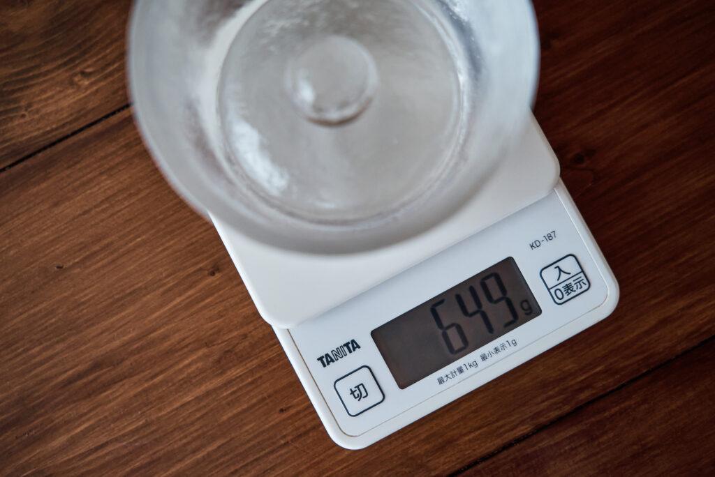 kinto浅漬け鉢の本体の重さ